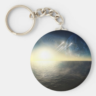 Ocean world with squadron basic round button keychain