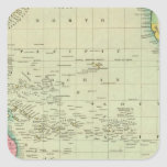 Oceana u Océano Pacífico Pegatina Cuadrada
