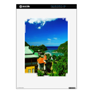 Oceanfront scene in Saint Lucia Skin For The iPad 2