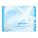 Oceanfront Starfish + Sea Shell Wedding Thank You Card