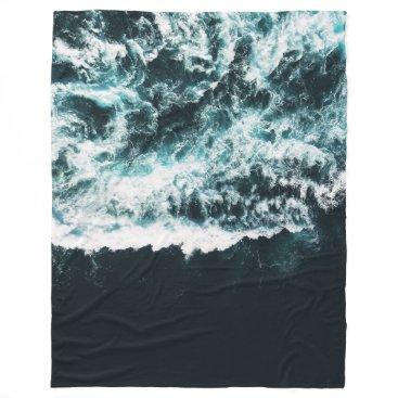 Ocean Themed Oceanholic Fleece Blanket