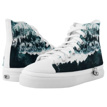 Ocean Themed Oceanholic High Tops Shoes Printed Shoes