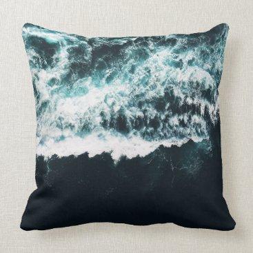 Ocean Themed Oceanholic Throw Pillow