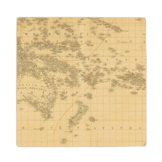 Oceanía 2 2 posavasos de madera