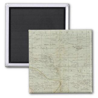 Oceania Atlas Map 2 Inch Square Magnet