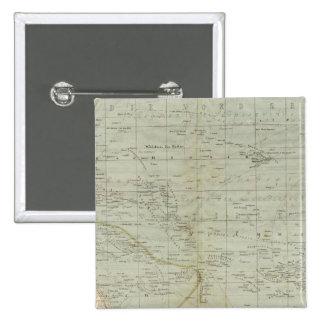 Oceania Atlas Map Pinback Button
