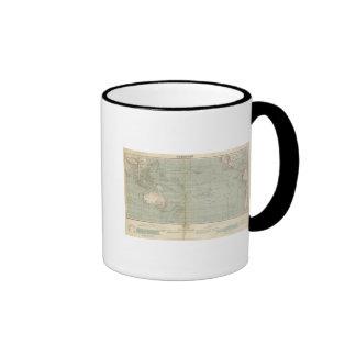 Oceania Atlas Map Ringer Mug