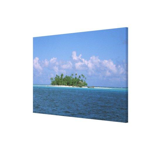 Oceania, French Polynesia, Tahiti. Small Canvas Print