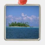 Oceania, French Polynesia, Tahiti. Small Metal Ornament