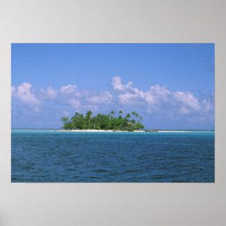 Oceania, French Polynesia, Tahiti. Small Print
