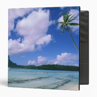 Oceania, French Polynesia, Tahiti. View of 3 Ring Binder