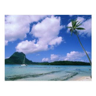 Oceania, French Polynesia, Tahiti. View of Post Card