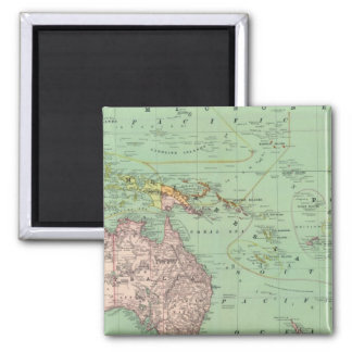 Oceania, Malaysia 2 Inch Square Magnet