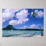 Oceanía, Polinesia francesa, Tahití. Vista a Poster