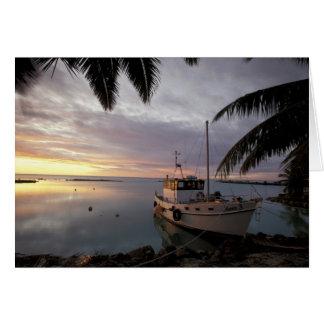 Oceania, Polynesia, Cook Islands, Aitutaki, Card