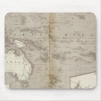 Oceania uncolored map mouse pads