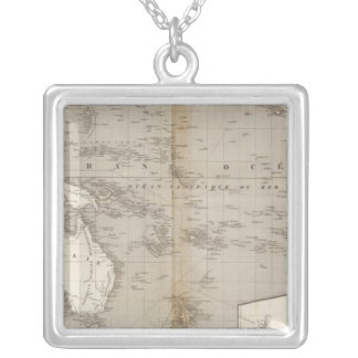 Oceania uncolored map jewelry