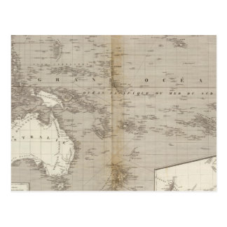 Oceania uncolored map postcard