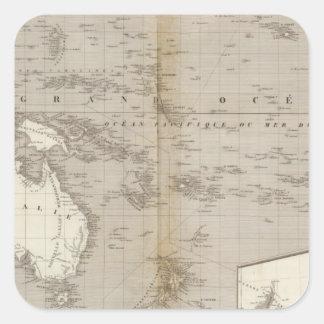 Oceania uncolored map square sticker
