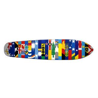 Oceanian Flags Skateboard