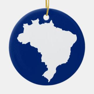 Oceanic Blue Festive Brazil at Emporio Moffa Ceramic Ornament