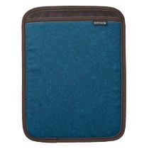 Oceanic Blue Mottled Pattern iPad Sleeve