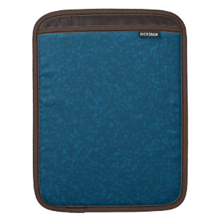 Oceanic Blue Mottled Pattern iPad Sleeve