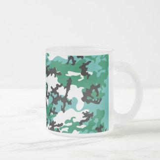 Oceanic Camo Frosted Coffee Mug