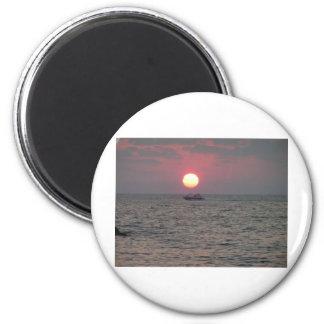 oceanic sunset 2 inch round magnet