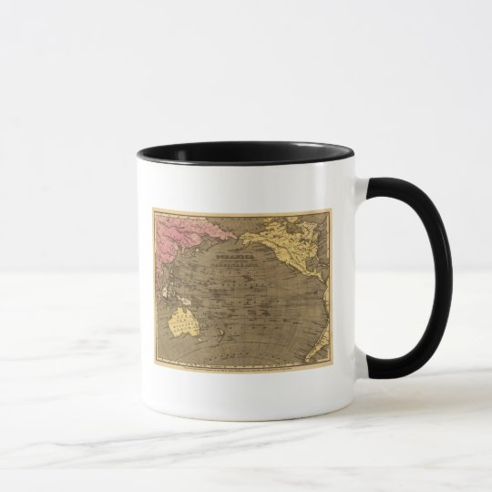 Oceanica Hand Colored Atlas Map Mug