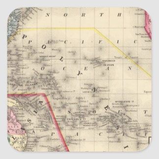 Oceanica, islas de bocadillo pegatina cuadradas
