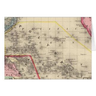 Oceanica, islas de bocadillo tarjeta de felicitación
