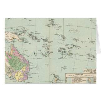 Oceanien - Atlas Map of Oceania Card