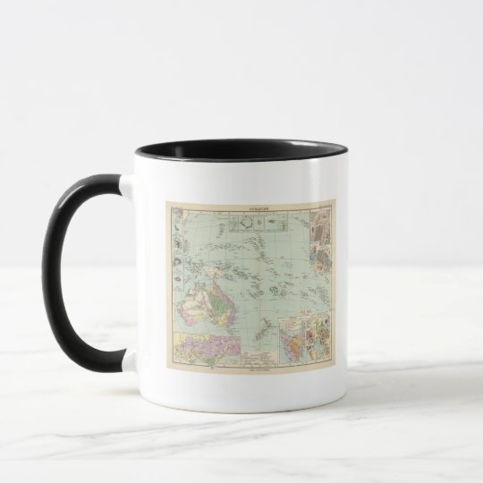 Oceanien - Atlas Map of Oceania Mug