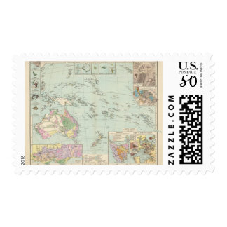 Oceanien - Atlas Map of Oceania Postage