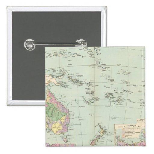 Oceanien - mapa del atlas de Oceanía Pins