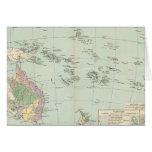 Oceanien - mapa del atlas de Oceanía Tarjeta De Felicitación