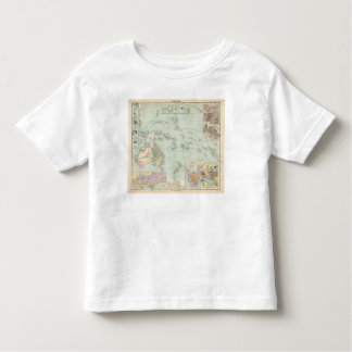 Oceanien - mapa del atlas de Oceanía Tee Shirt