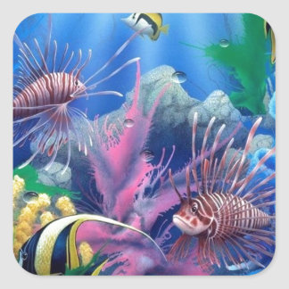 oceanlife 1.jpg pegatina cuadrada