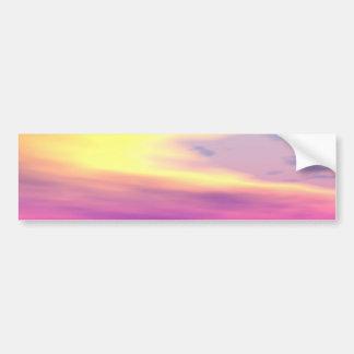 Océano a la deriva, abstracto de la violeta del or etiqueta de parachoque