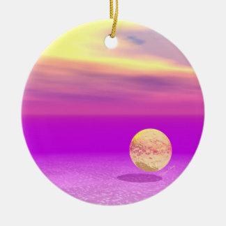 Océano a la deriva, abstracto de la violeta del or ornato