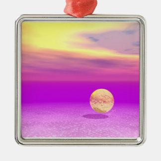 Océano a la deriva, abstracto de la violeta del or adorno de reyes