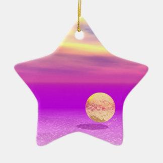 Océano a la deriva, abstracto de la violeta del or ornamentos de navidad