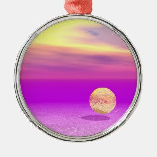 Océano a la deriva, abstracto de la violeta del or ornamento para reyes magos