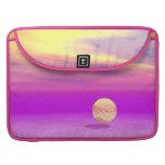 Océano a la deriva, abstracto de la violeta del or fundas para macbooks