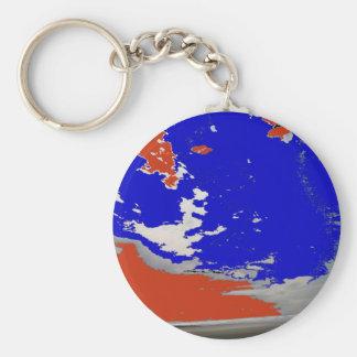 Océano abstracto de la playa del cielo de la foto llaveros personalizados