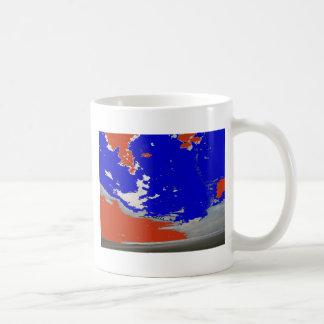 Océano abstracto de la playa del cielo de la foto  taza de café