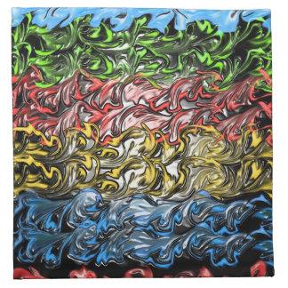 Océano abstracto servilleta imprimida