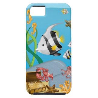Océano acuático bajo caso del iPhone 5 del mar iPhone 5 Protectores