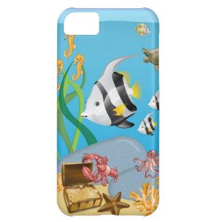 Océano acuático bajo caso del iPhone 5 del mar